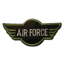 AIR FORCE WINGS MOTIF IRON ON EMBROIDERED PATCH APPLIQUE